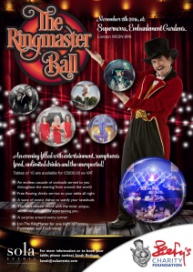 Figure 6. Flyer for upcoming BCF event, The Ringmaster Ball on 11 November 2016 (downloaded from BCF website)