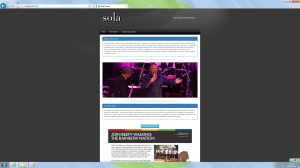Figure 3. Sola Events homepage at 23 May 2016